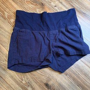Navy Maternity Shorts